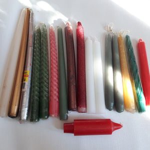 Taper Candle LOT of 17